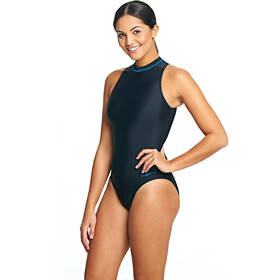 Zoggs Cable Zipped Hi Neck Swimsuit Dame